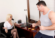 Victoria White & John Strong in Naughty Office story pic