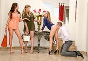 Nicole Aniston & Nikki Benz & Phoenix Marie & Mark Wood in Naughty Rich Girls