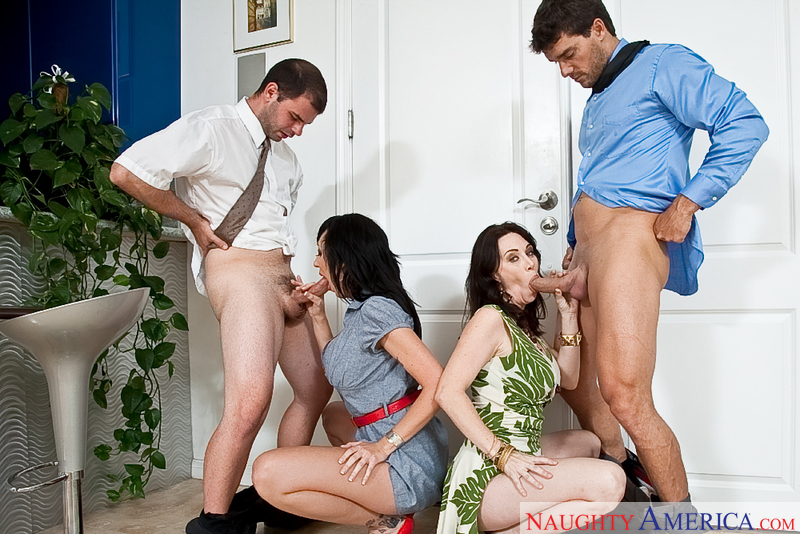 Porn star Alia Janine & RayVeness getting ready