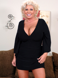 Busty mature lesbian and young