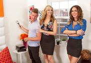 Jessica Jaymes & Julia Ann & Van Wylde in Seduced By A Cougar story pic