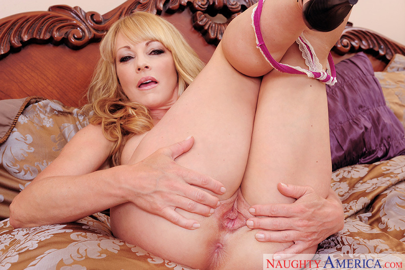 Porn star Shayla LaVeaux getting ready