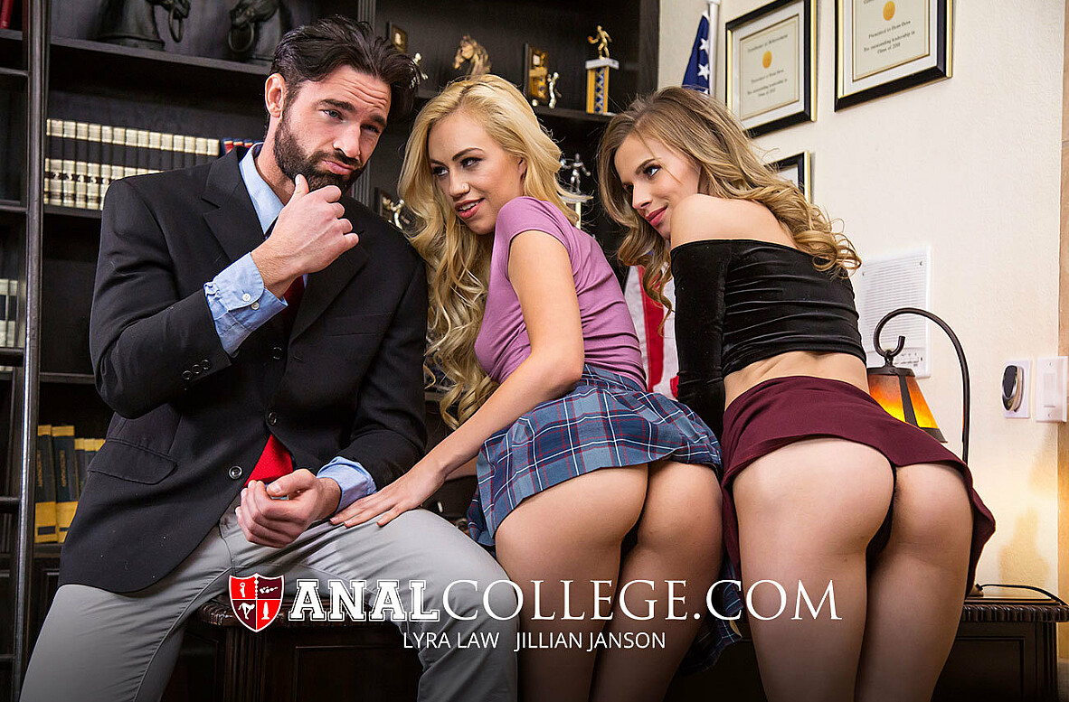 Watch Jillian Janson, Lyra Law and Charles Dera 4K video in Anal College