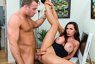 Nikki Benz fucking in the desk with her tits - Sex Position 3