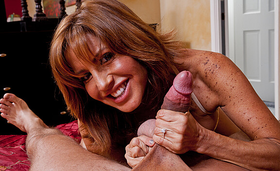 Mature Tara Holiday fucking in the bedroom with her tits - Sex Position #5
