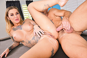 Kleio Valentien fucking in the pool table with her petite - Sex Position 3