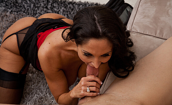 Ava Addams fucking in the couch with her big natural tits - Sex Position #7
