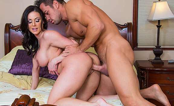 Kendra Lust fucking in the bedroom with her big tits - Sex Position #10