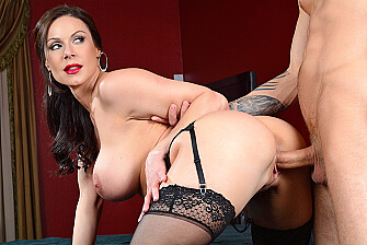 Kendra Lust fucking in the bed with her tits - Sex Position 3