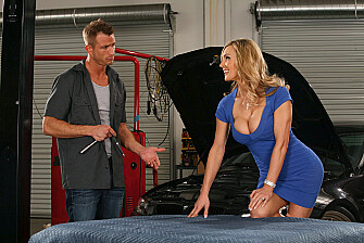 Tanya Tate fucking in the garage with her piercings - Sex Position 1