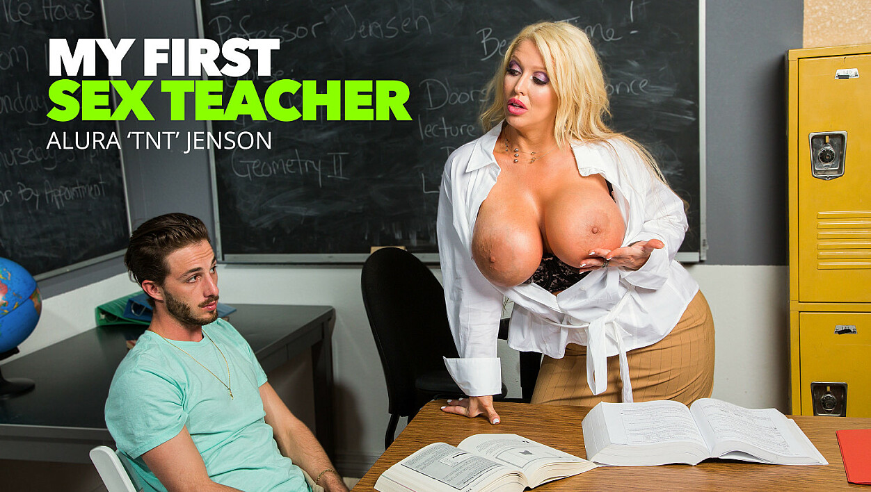 Alura 'TNT' Jenson's student is mesmorized by her tits