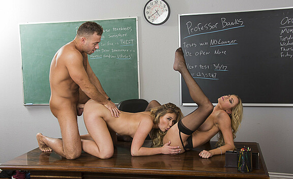 Alyssa Cole fucking in the desk with her innie pussy - Sex Position #11