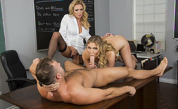 Alyssa Cole fucking in the desk with her innie pussy - Sex Position #4