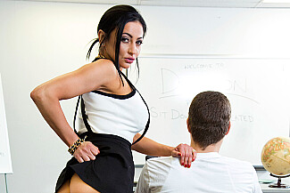Audrey Bitoni fucking in the classroom with her big tits - Sex Position 4