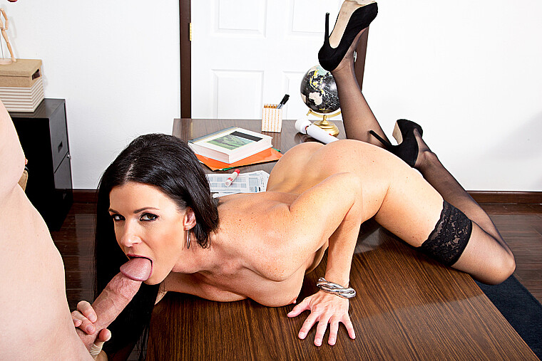 India Summer fucking in the classroom with her hairy bush
