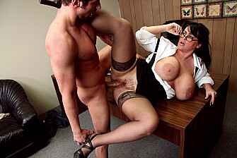 Professor Indianna Jaymes fucking in the desk with her tits - Feb 25, 2009 - picture 4