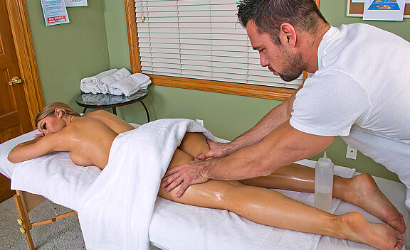 Nicole Aniston fucking in the massage table with her tits - Sex Position #3