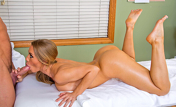 Nicole Aniston fucking in the massage table with her tits - Sex Position #7
