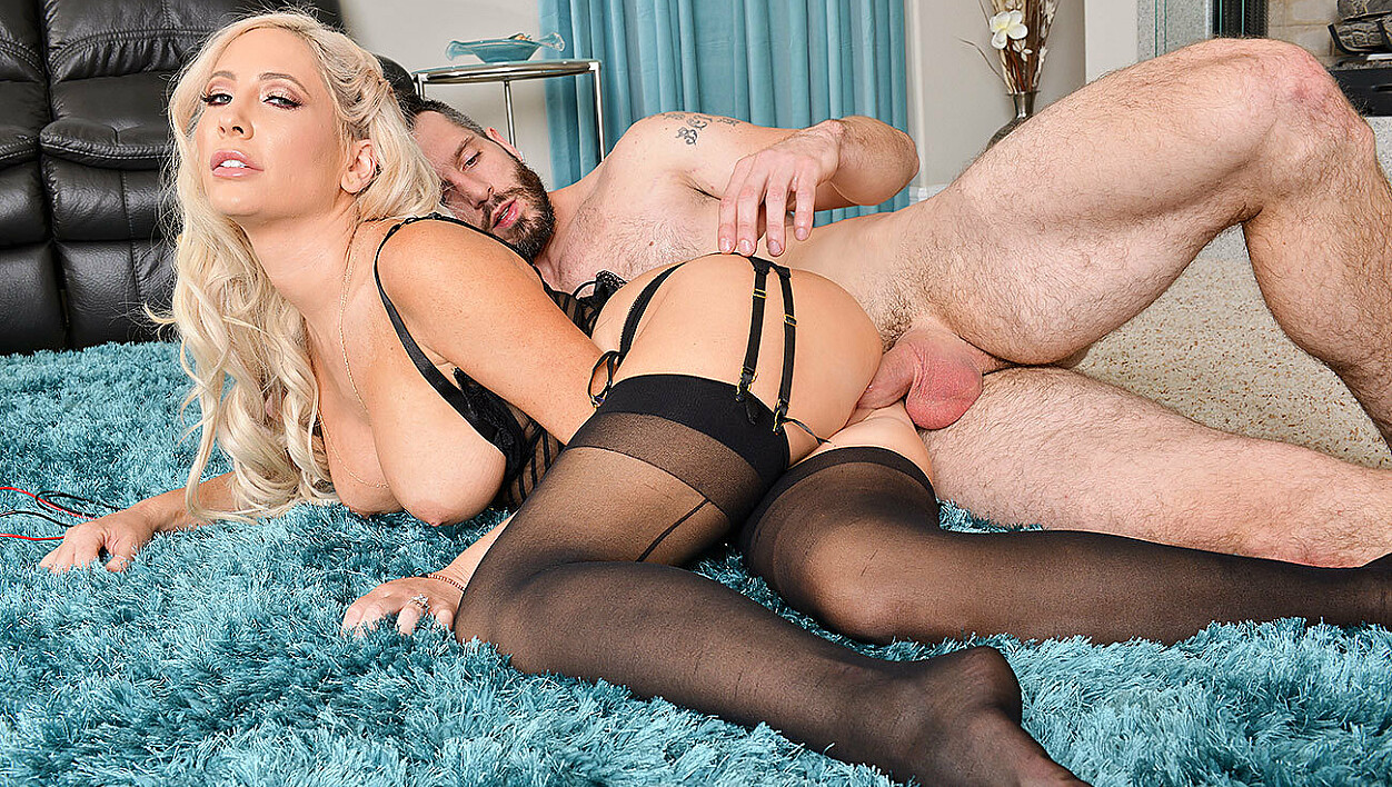 Tasha Reign fucking in the living room with her big tits
