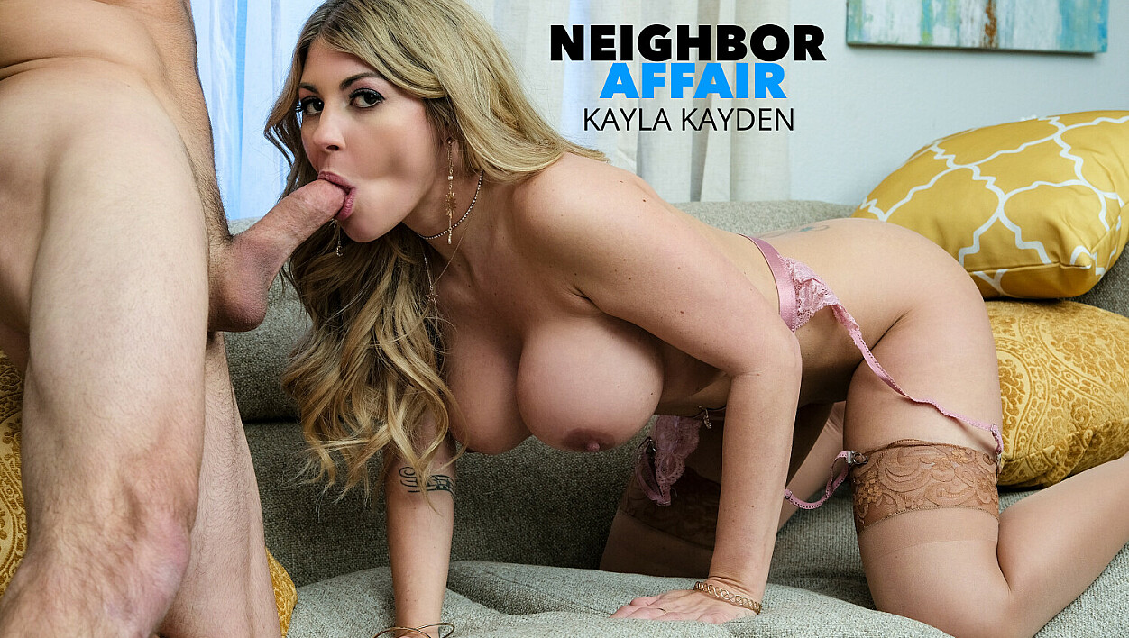Kayla Kayden goes looking for her neighbor to fuck him!!
