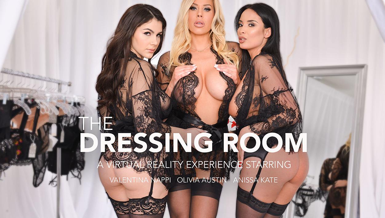 Anissa Kate, Olivia Austin, and Valentina Nappi fuck in lingerie