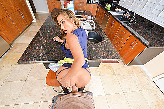 Aubrey Black fucking in the kitchen with her tits vr porn - Sex Position 3