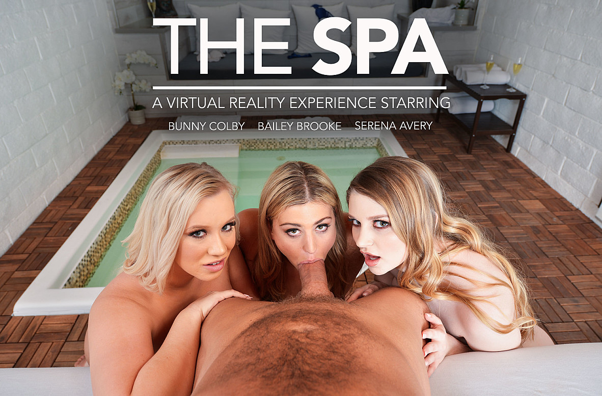 Watch Bailey Brooke, Serena Avery and Brad Newman VR video in Naughty America
