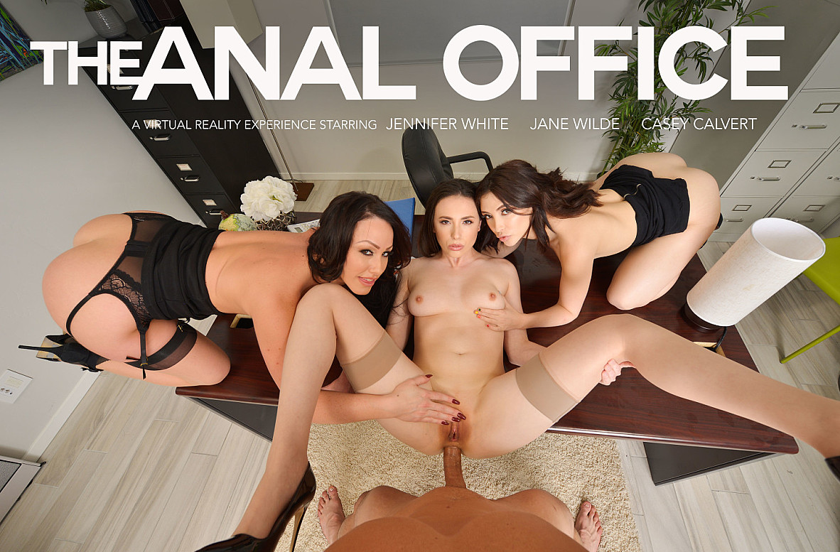 Watch Casey Calvert, Jane Wilde, Jennifer White and Ryan Driller VR video in Naughty America