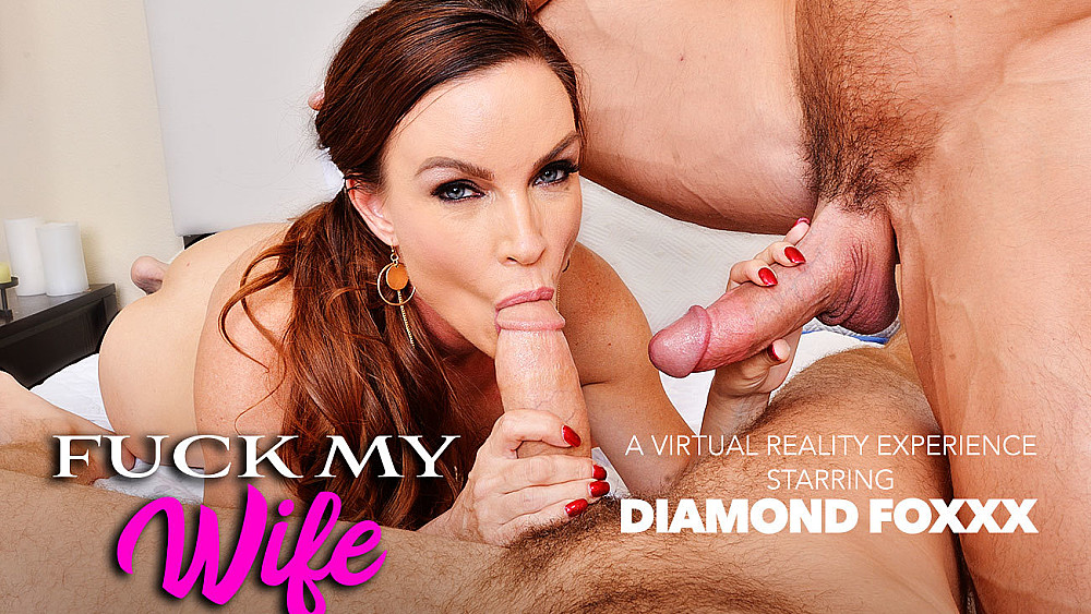 Click here to play Two Dicks, One Wife: Your Wife Diamond Foxxx in VR Porn VR porn