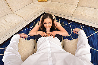 Kendra Lust fucking in the couch with her tits vr porn - Sex Position 1