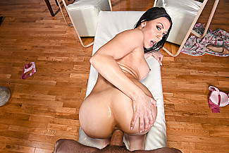 Rachel Starr fucking in the massage table with her piercings - Sex Position 3