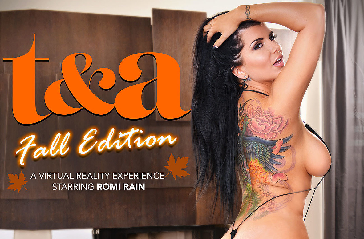 Watch Romi Rain and Dylan Snow VR video in Naughty America