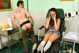 Client Dana DeArmond fucking in the table with her piercings - Sex Position 1