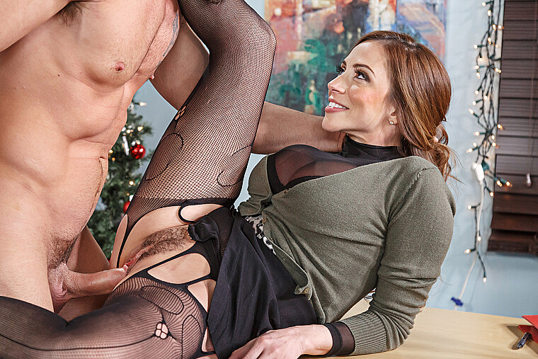 Ariella Ferrera fucking in the office with her big tits