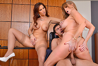 Caucasian Darla Crane fucking in the office with her tits - Sex Position 3