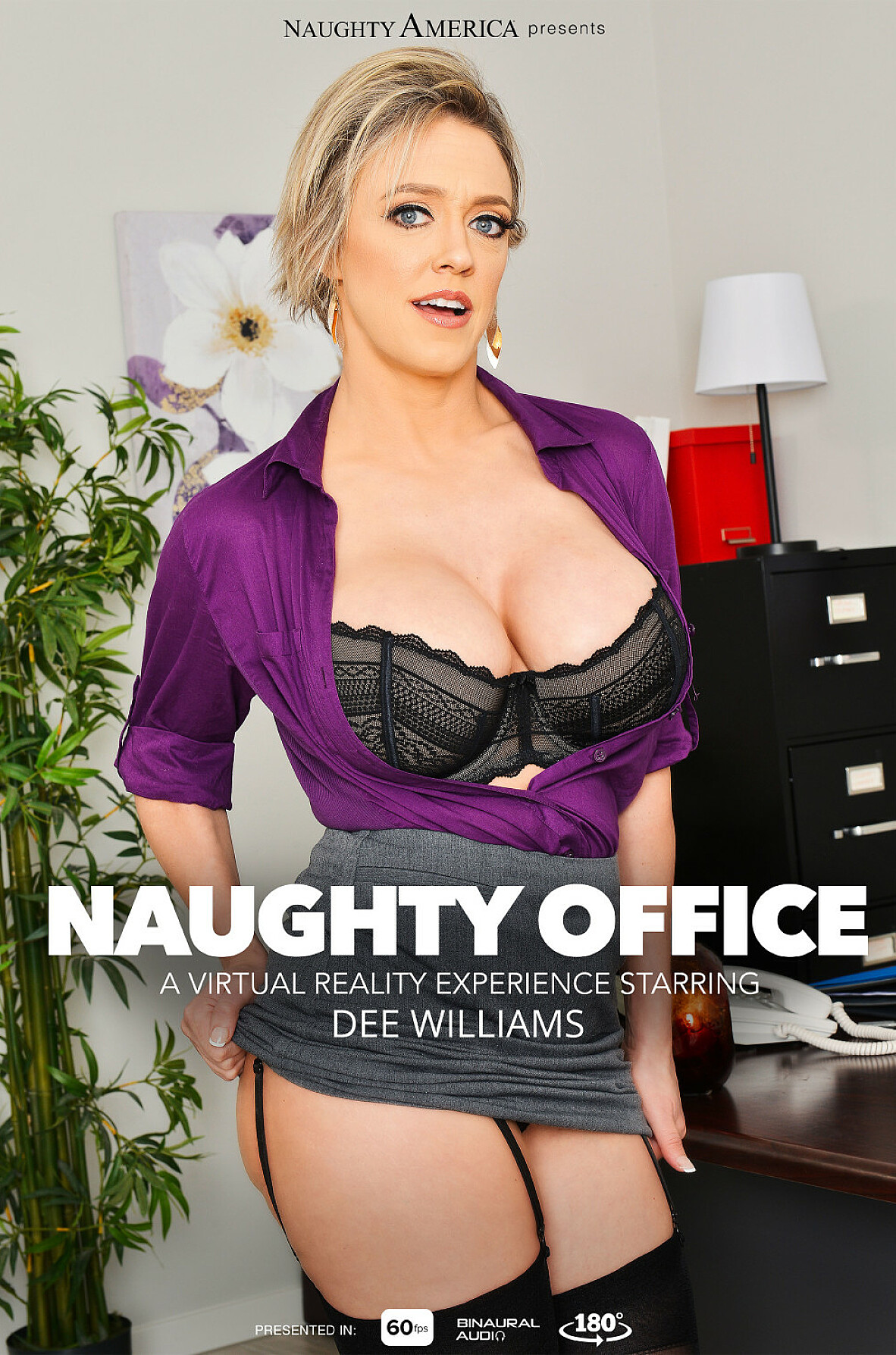 Watch Dee Williams and Bambino VR video in Naughty Office