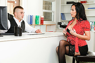 Desperate for a job, Lily Lane, is willing to blow her way for a position  - Sex Position 1