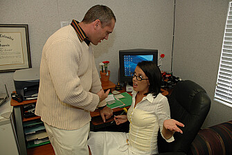 Penny Flame fucking in the office with her big tits - Sex Position 1