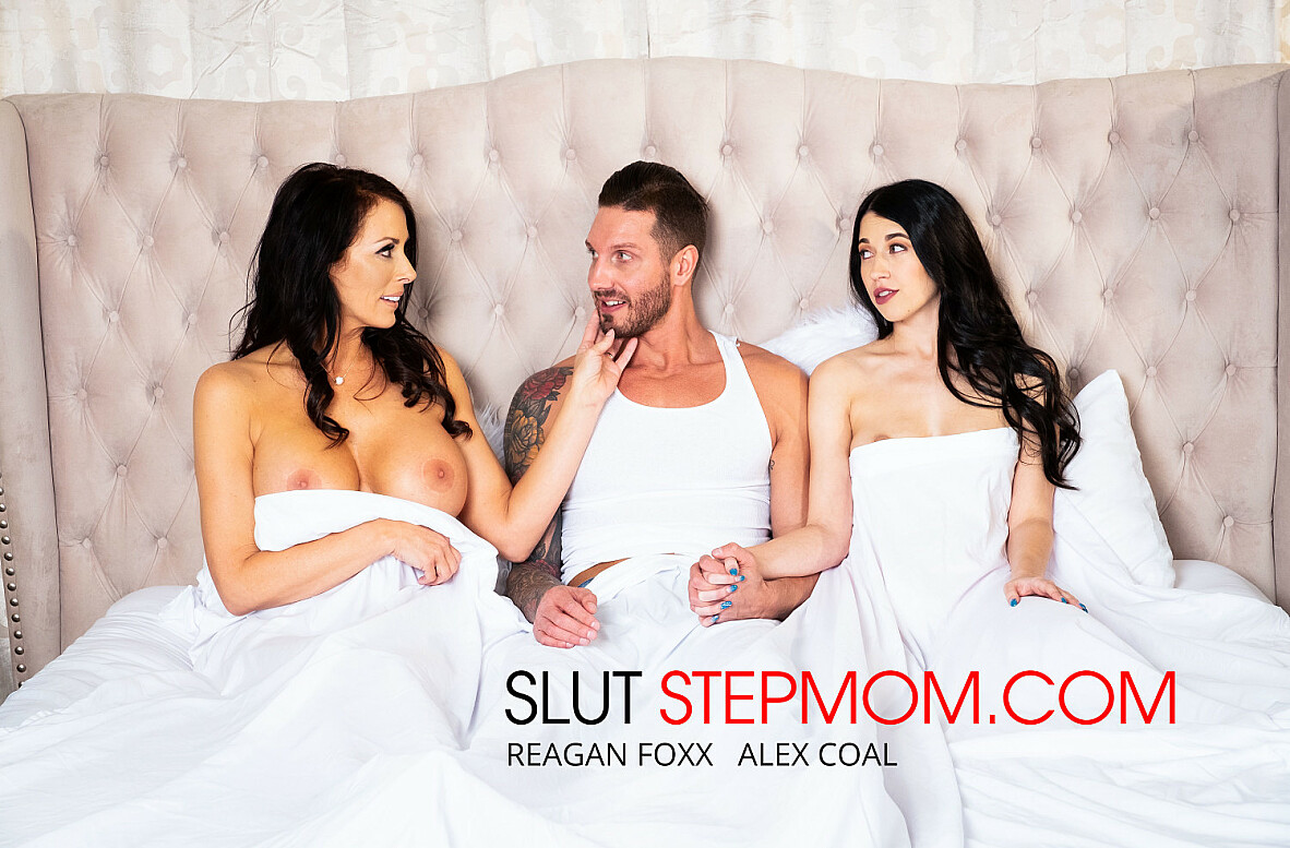 Watch Alex Coal, Reagan Foxx and Quintin James 4K video in Slut Step Mom