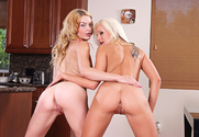 Ally Ann & Eden Adams & Billy Glide in 2 Chicks Same Time