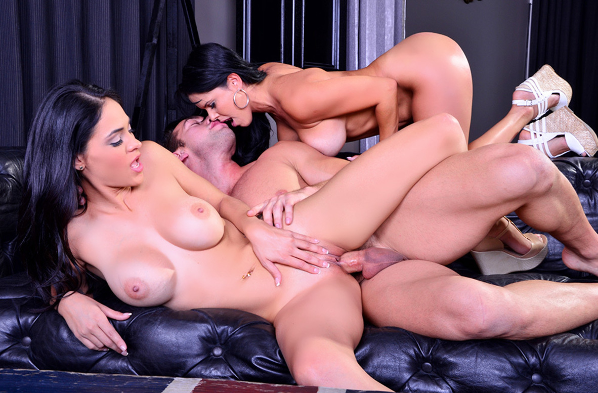 Watch Diamond Kitty, Jasmine Caro and Johnny Castle 4K video in 2 Chicks Same Time