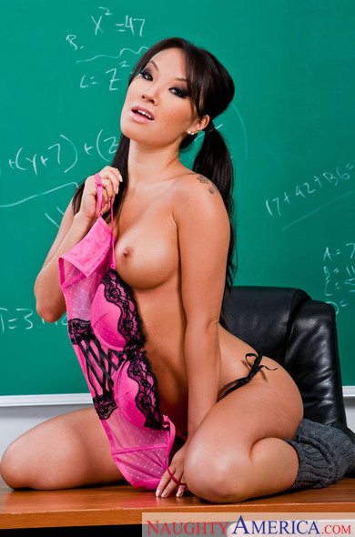Petite Asa Akira fucking in the classroom with her glasses