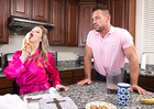 Sunny Lane fucking in the kitchen with her medium tits - Sex Position 1