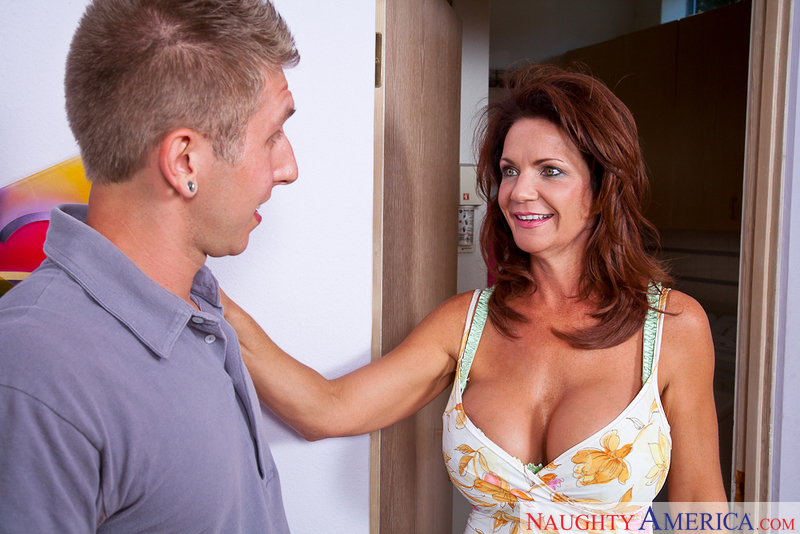 MILF Deauxma fucking in the hallway with her big tits - Sex Position 1