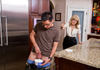 Nina Hartley fucking in the kitchen with her lingerie - Sex Position 1