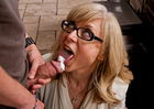 Nina Hartley fucking in the kitchen with her lingerie - Blowjob