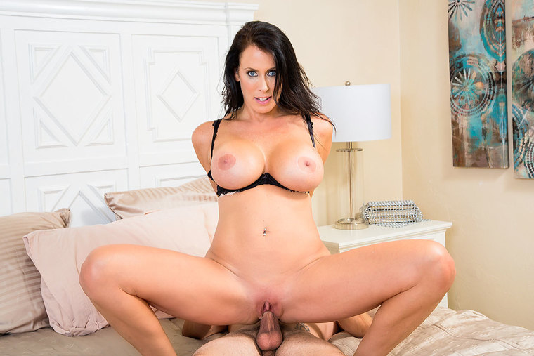 Busty horny Reagan Foxx is a good-natured, good-fucking MILF