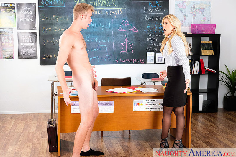 MILF-y Teacher India Summer Takes Cocky Jock's Jocky Cock - Sex Position 1