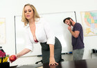 Mature professor Julia Ann fucking in the desk with her tits - Sex Position 1