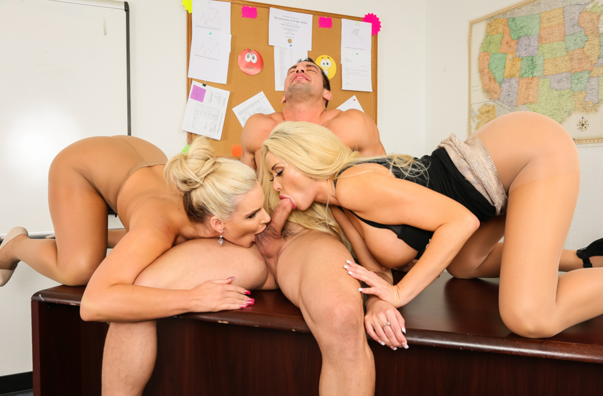 Watch Phoenix Marie, Summer Brielle and Johnny Castle 4K video in My First Sex Teacher